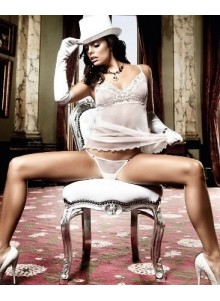 Mesh and Lace Chemise